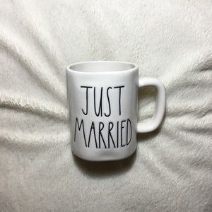 Rae Dunn LL JUST MARRIED Ceramic Mug NWT New